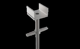 Platina terminal con tornillo nivelador, andamio de carga García Vega